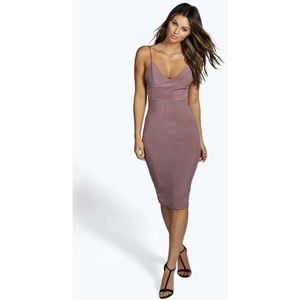 BOOHOO Night Mauve dress